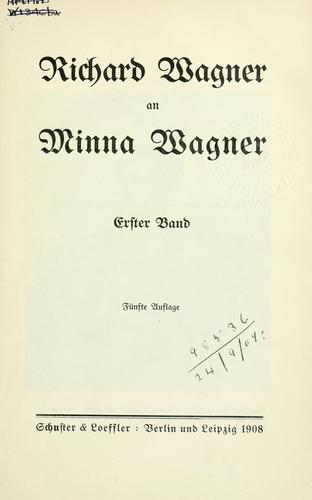 Download Richard Wagner an Minna Wagner.