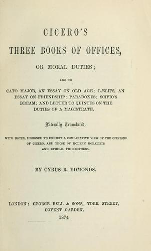 Cicero's three books Of offices