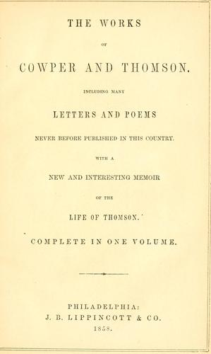 Download The works of Cowper and Thomson