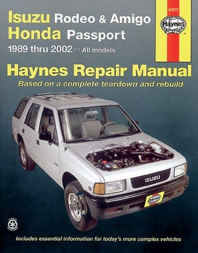 Isuzu Rodeo & Amigo, Honda Passport automotive repair manual