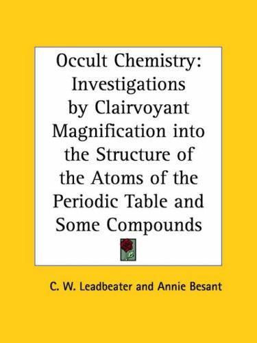 Download Occult Chemistry