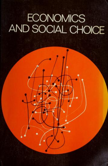 Cover of: Economics and social choice | Jack W. Nickson