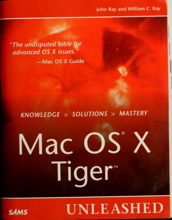 Cover of: Mac OS X Tiger unleashed | Ray, John