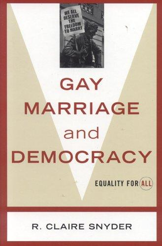 Gay Marriage and Democracy