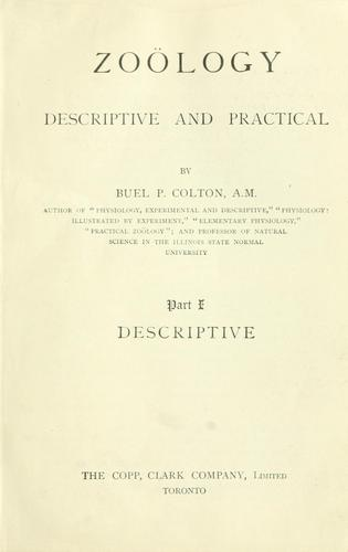 Zoology: descriptive and practical by Buel P. Colton