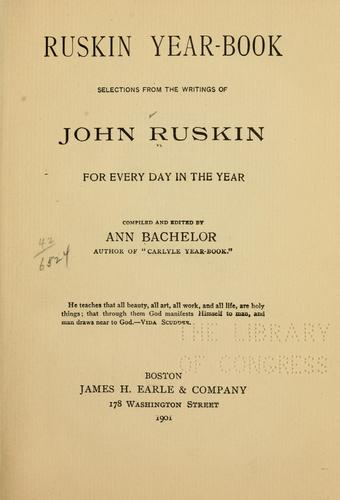 Ruskin year-book by John Ruskin