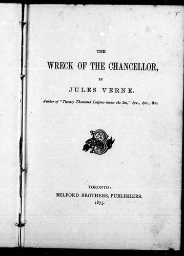The wreck of the Chancellor by Jules Verne