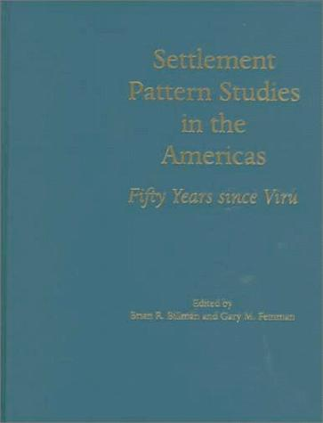 SETTLEMENT PATT STUDIES AMER by BILLMAN B